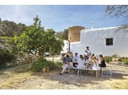 Sled base garden armchair with armrests TITUNA | Garden armchair - GANDIA BLASCO
