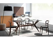 Rectangular wood and glass table TOKYO | Rectangular table - Calligaris