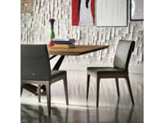 Upholstered leather chair TOSCA - Cattelan Italia