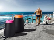 Outdoor polyethylene waste bin TOT - Derlot Editions