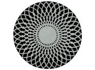 Round wool rug with geometric shapes TRAMA - GAN By Gandia Blasco