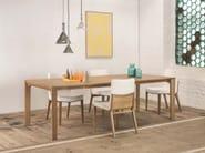 Rectangular English oak dining table TRAPEZ - TON