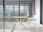 Folding rectangular teak garden table TRAVERSE - ROYAL BOTANIA