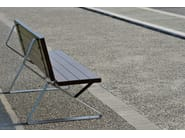 Steel and wood Bench TRIA - LAB23 Gibillero Design Collection