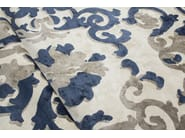 Patterned handmade rectangular rug TRIANON GHOST DEEP BLUE - EDITION BOUGAINVILLE