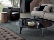 Low round oak coffee table TRIBECA | Low coffee table - Poliform
