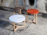 Tavolino da caffè rotondo in MDF TRIOLET | Tavolino da caffè - Canapés Duvivier
