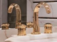 Miscelatore per lavabo a 3 fori color oro TROCADERO OEIL DE TIGRE | Miscelatore per lavabo - INTERCONTACT