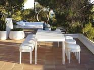Fabric garden stool with removable cover TROPEZ | Garden stool - GANDIA BLASCO
