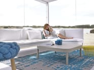 Square thermo lacquered aluminium garden side table TROPEZ | Square coffee table - GANDIA BLASCO