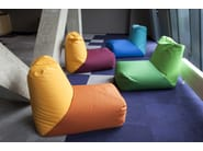 Tube bean bags at lounge area, Fabric: OX