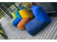 Tube bean bags at terrace, Fabric: OX