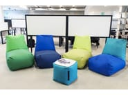 Tube bean bags at the office, Fabric: OX