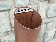Outdoor stainless steel waste bin TUBO O - Tubo / ZZ Concept