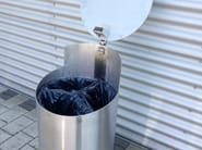 Outdoor stainless steel waste bin with lid TUBO V - Tubo / ZZ Concept