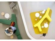 Modular polyethylene garden bench TWIG | Polyethylene bench - Derlot Editions