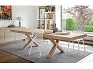 Extending rectangular dining table TWO - Calligaris