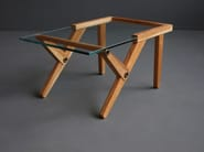 Wood and glass coffee table TY - HOOKL und STOOL