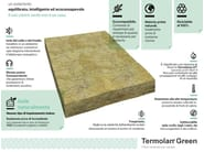 Mineral fibre Thermal insulation panel Termolan® Green - TERMOLAN