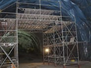 In situ concrete loadbearing masonry system Tunnel reinforcement and membrane gantry - Condor