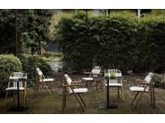 Contemporary style upholstered iroko garden armchair UNAM OUT 02/C | Garden armchair - Very Wood
