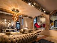 Design indirect light glass chandelier UOVO - Lasvit