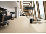 Full-body porcelain stoneware wall/floor tiles with concrete effect URBANA CONTRACT White - Italgraniti