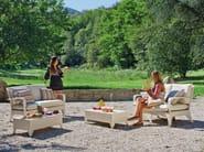 Upholstered garden armchair with armrests VANITY | Garden armchair - Atmosphera