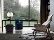 Fabric armchair with headrest VENTURA LOUNGE | Armchair - Poliform