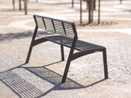 Galvanized steel Bench with back VERA | Galvanized steel Bench - mmcité 1
