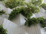 UHPC Flower pot VERTICAL GREEN - Metalco