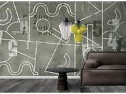 Carta da parati a motivi effetto muro in materiale sintetico in stile moderno con scritte VERTIGINE - N.O.W. Edizioni