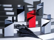 Powder coated steel umbrella stand VIA - MOX
