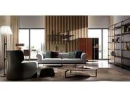 Upholstered leather sofa VIVALDI | Sofa - Esedra by Prospettive