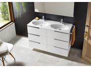 Double wooden vanity unit with drawers VICTORIA-N | Vanity unit - ROCA SANITARIO