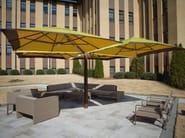Offset square Garden umbrella VINEYARD SHADE POD - TUUCI
