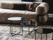 Tavolino basso rotondo in vetro di Murano VINYL - Cattelan Italia