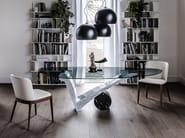 Rectangular crystal table VIOLA D'AMORE - Cattelan Italia
