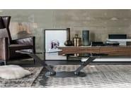 Low crystal coffee table VIPER - Cattelan Italia