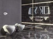 Double wall-mounted washbasin with integrated countertop VITAE | Double washbasin - NOKEN DESIGN