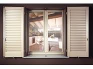 Aluminium and wood top-hung window VIVALDI COMPLANARE - ITALSERRAMENTI