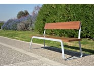 Steel and wood Bench VOLEE - LAB23 Gibillero Design Collection