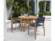 Garden chair with armrests VOYAGER | Directors chair - Gloster