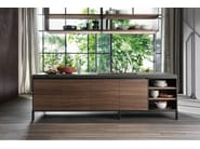 Wooden kitchen with island without handles VVD | Kitchen with island - DADA