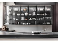 Lacquered linear wooden kitchen without handles VVD | Linear kitchen - DADA