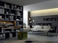 Sectional wooden bookcase WALL SYSTEM - Poliform