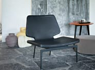 Leather easy chair WERNER | Leather easy chair - Lema