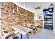 Indoor wooden 3D Wall Cladding WHEELS - Wonderwall Studios