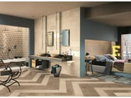 White-paste wall tiles with marble effect WHITE EXPERIENCE WALL Statuario - Impronta Ceramiche by Italgraniti Group