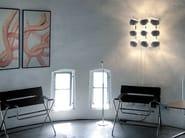 LED porcelain wall lamp WHITE MOONS 3 x 3 - LICHT IM RAUM